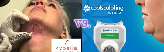 Kybella vs. The New CoolMini by CoolSculpting as a Chin Fat Reduction Treatment