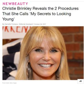Christie Brinkley Secrets to Looking Young Botox, Ultherapy and Xeomin
