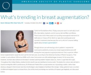 What's trending in breast augmentation
